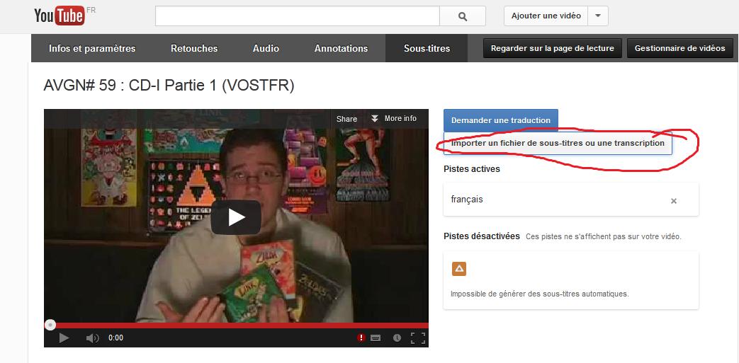 """(Sous-titrage en """"Closed Captions"""" sur Youtube) Ma méthode de sous titrage  Tuto16-3abec08"""